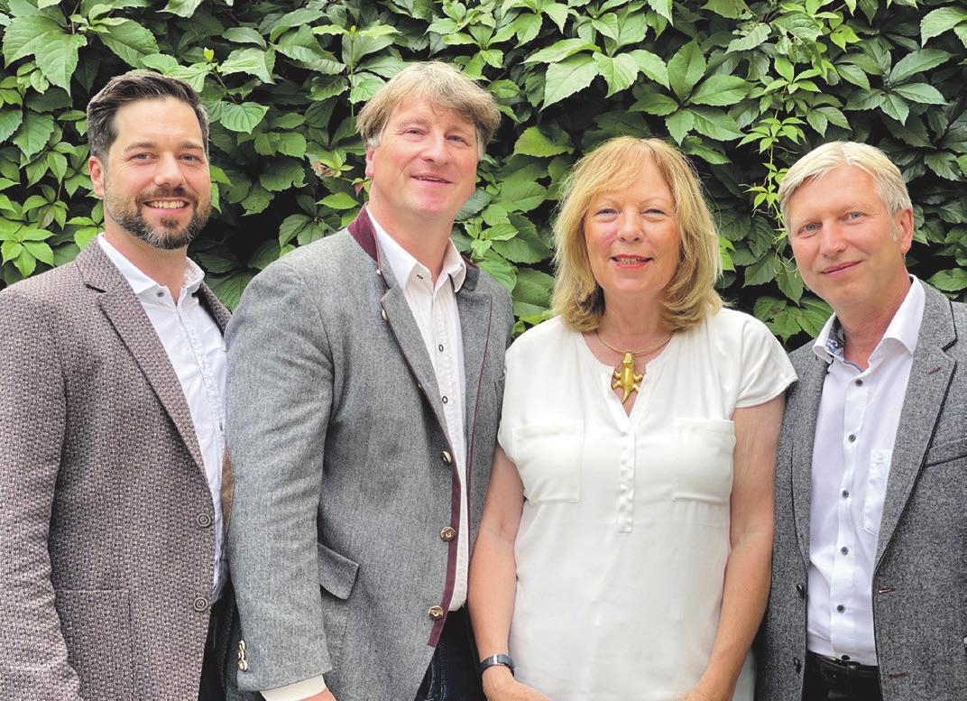 Der neue Messevorstand (v.l.n.r.): Miroslav Kutnjak (2. Vorstand), Martin Puch (1. Vorstand), Margarete Pachmann (Kassenwärtin), Michael Vogt (Schriftführer)