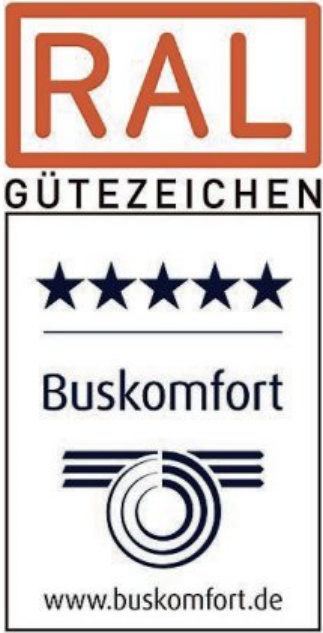 Buskomfort RAL Gütezeichen