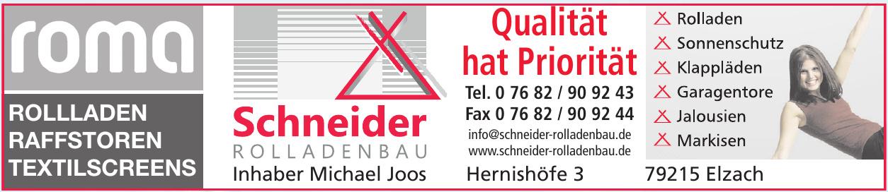Schneider Rolladenbau