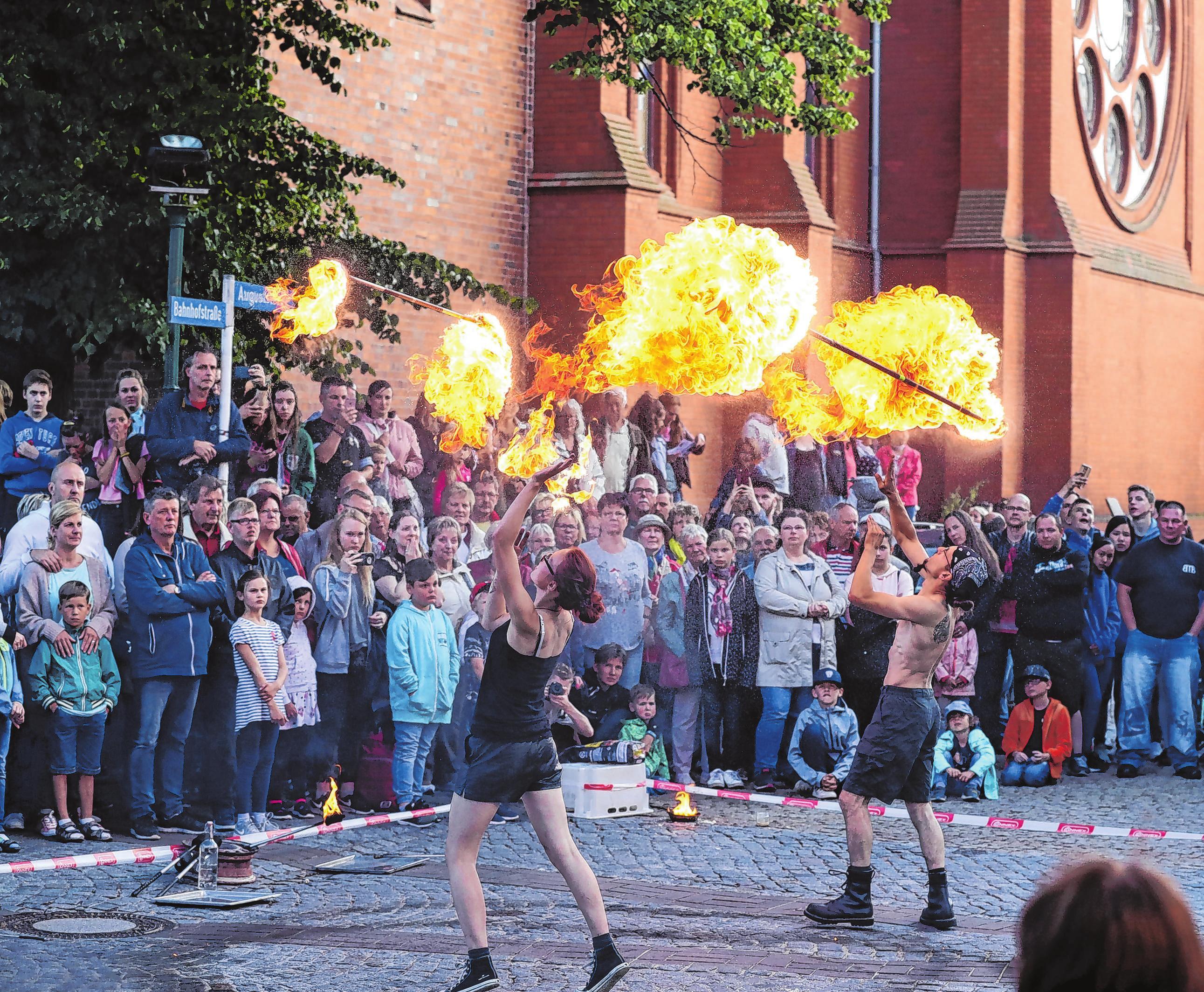 Heißes Vergnügen auch 2021: Feuershow