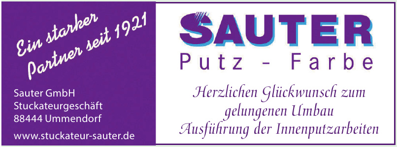 Sauter GmbH Stuckateurgeschäft