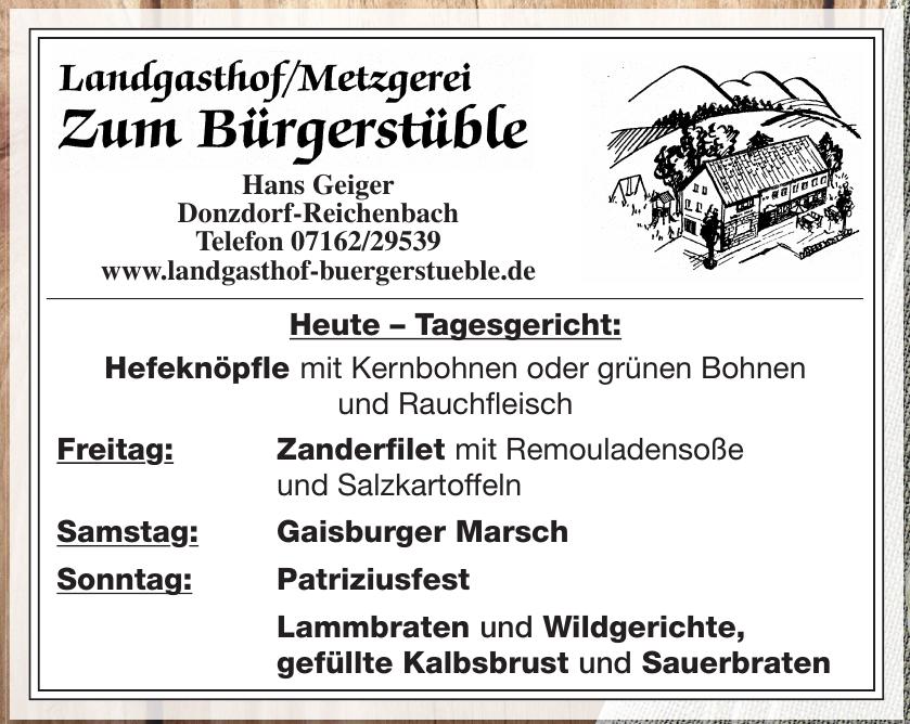 Landgasthof/Metzgerei Zum Bürgerstüble