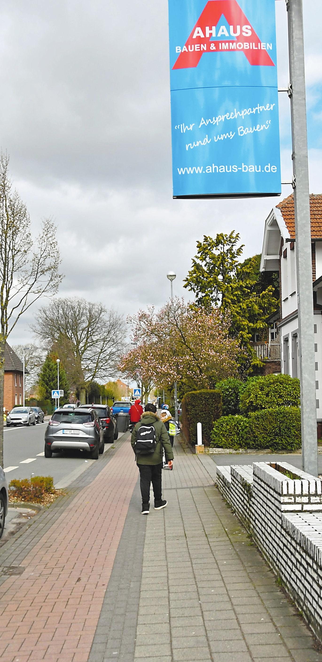 Aus dem Rad-Fuß-Weg soll ein verbreiterter Radweg entstehen.