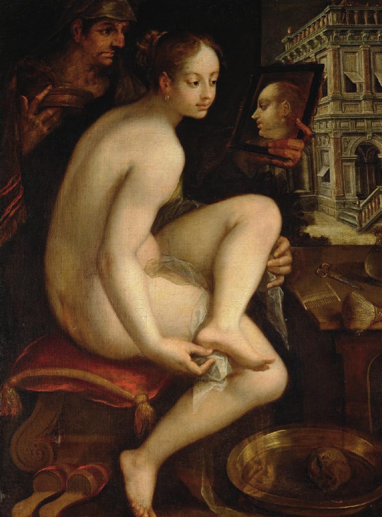 """Hans von Aachen (1552–1615) schuf um 1615 dieses Ölgemälde """"Bathseba im Bade"""". Die Arbeit kommt aus der Gemäldegalerie des Kunsthistorischen Museum Wien. Foto: KHM Museumsverband"""