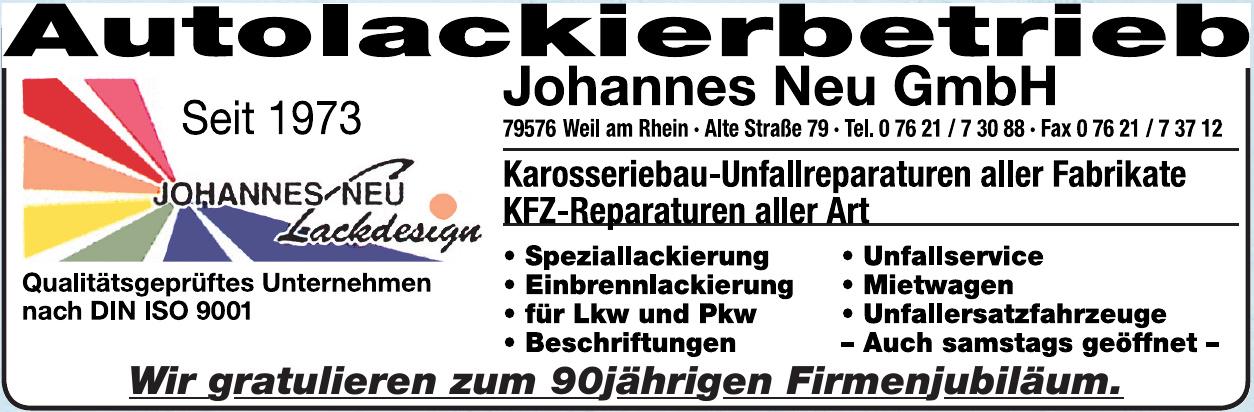 Autolackierbetrieb Johannes Neu GmbH
