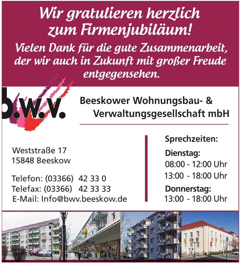 b.w.v. Beeskower Wohnungsbau- & Verwaltungsgesellschaft mbH