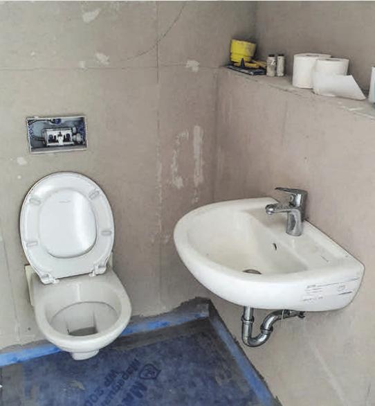 Provisorische Toilette Gestaltung: www.satzundmore.de