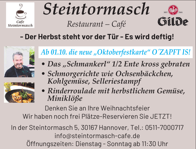 Steintormasch Restaurant – Café