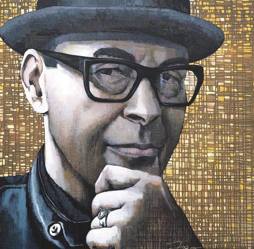 Walter Ginhart – Ein Gemälde der Künstlerin Ira Tsantekidou
