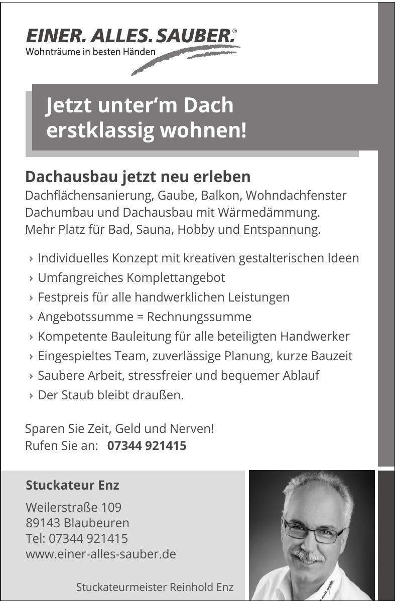 Stuckateurmeister Reinhold Enz
