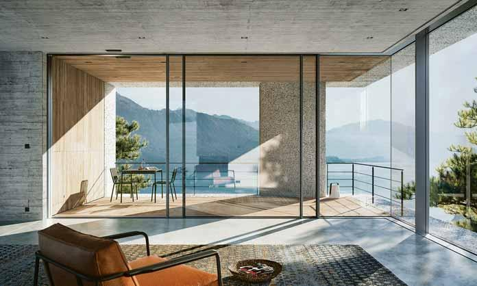 Großformatige Fenster mit filigraner Optik liegen im Trend. Foto: Schüco International KG