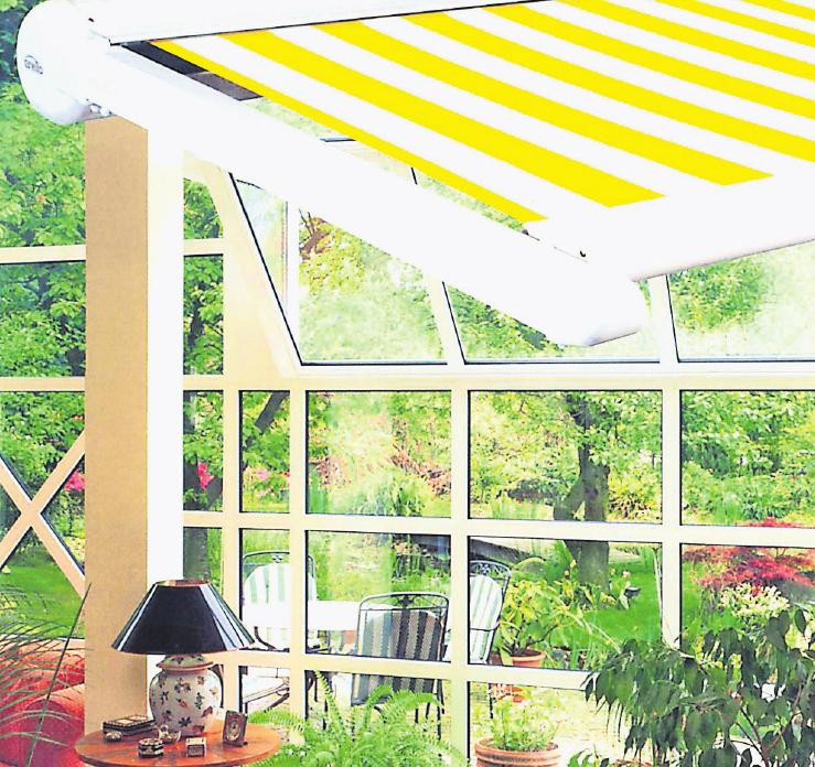 So formschön und praktisch können Wintergärten und Markisen aussehen. Spezialisten zu diesen Themen, und auch zahlreichen anderen, findet man bei der Firma FC Überdachungsbau. Foto: Ehage
