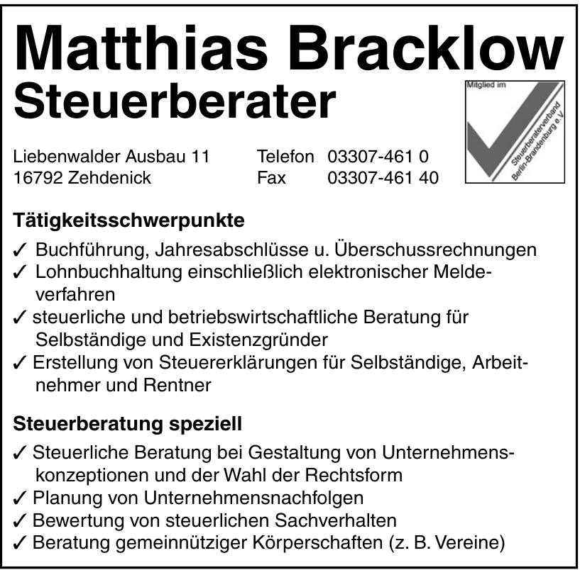 Matthias Bracklow Steuerberater