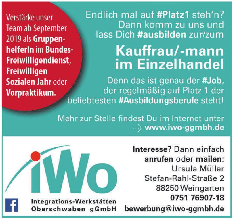 Integrations-Werkstätten Oberschwaben gGmbH