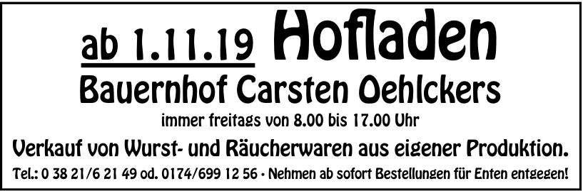 Hofladen - Bauernhof Carsten Oehlckers