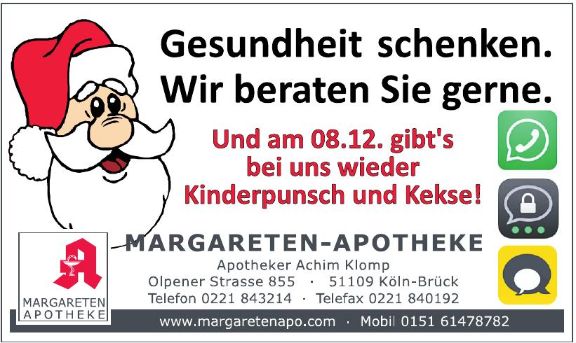 Margareten-Apotheke Apotheker Achim Klomp e.K.