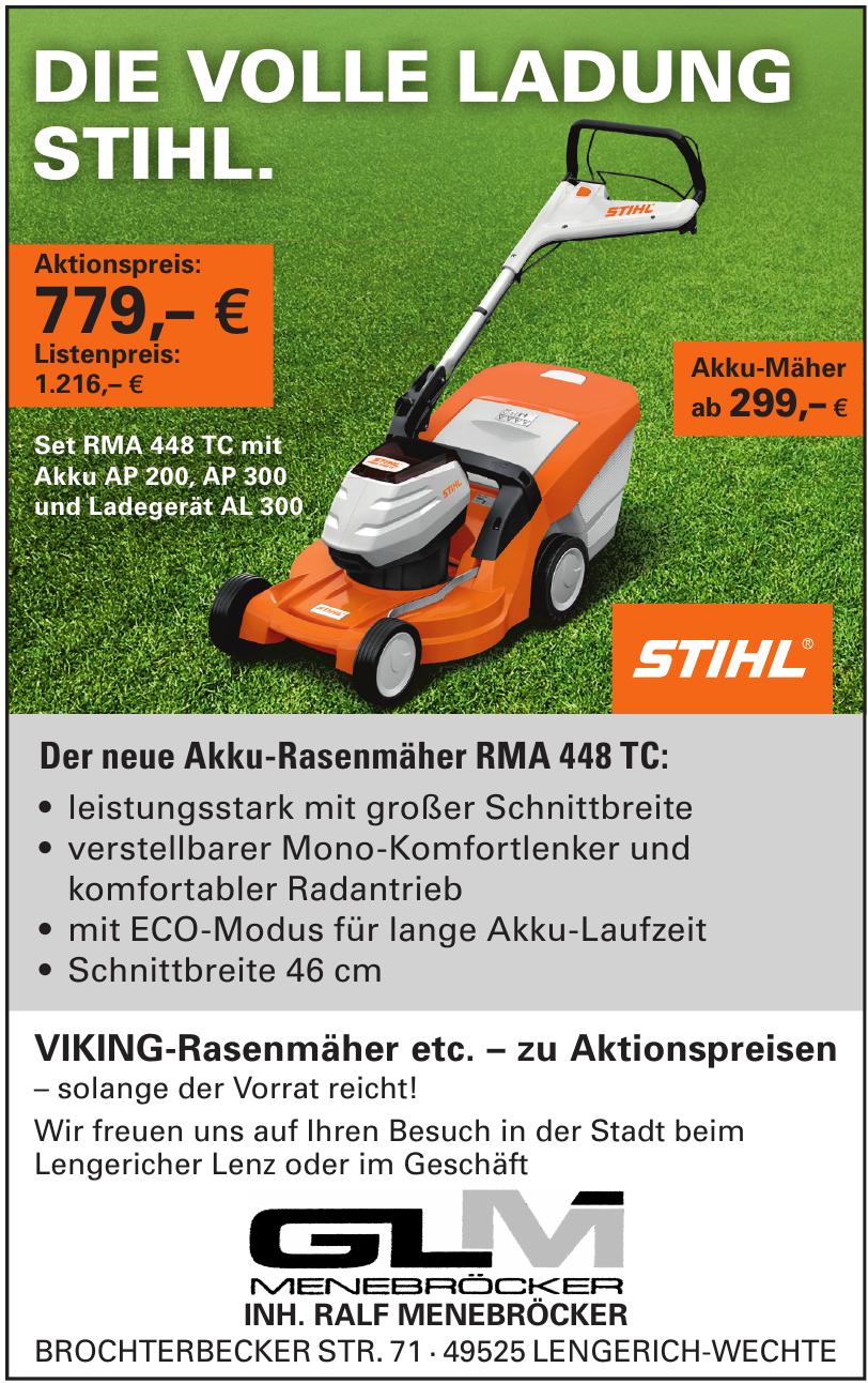 Glm Menebröcker, Garten- und Landtechnik
