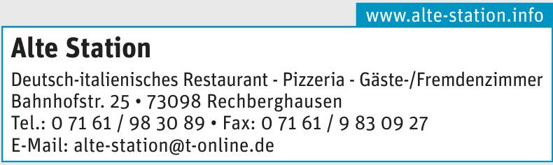 Alte Station Deutsch-italienisches Restaurant - Pizzeria - Gäste-/Fremdenzimmer