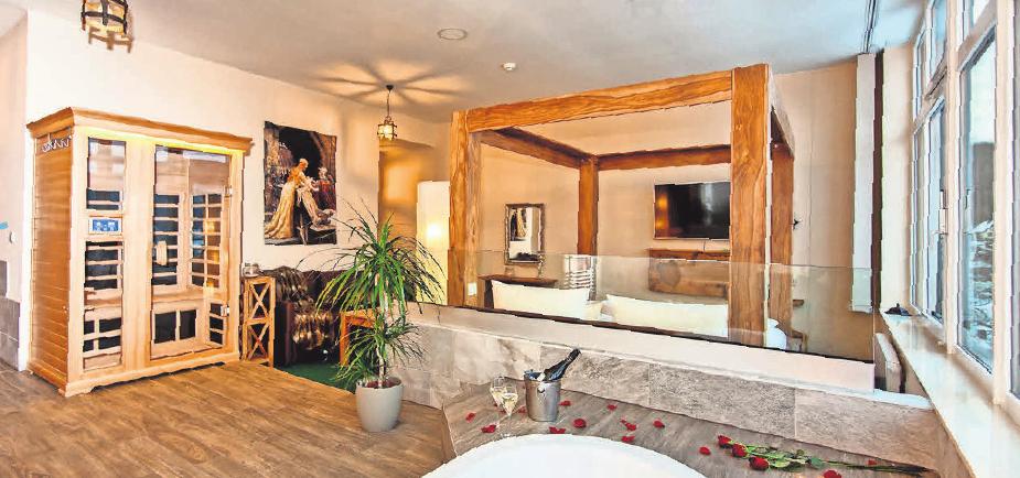 Die Honeymoon-Suite bietet ein ganz besonderes Ambiente.