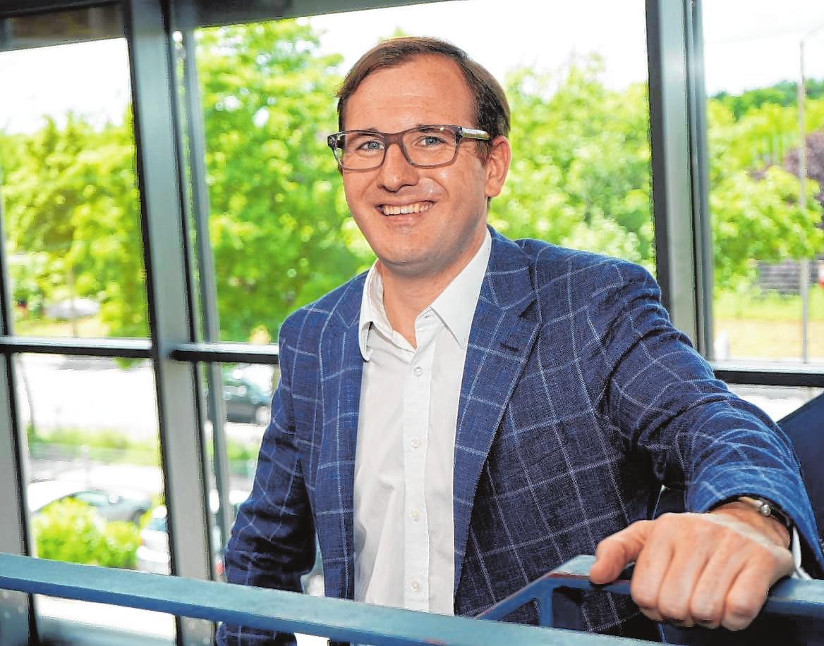 Adrian Merkel (Bild) hat gemeinsam mit seinem Vater Peter Merkel Anfang des Jahres die Firma Framence gegründet. Bild: Thomas Zelinger