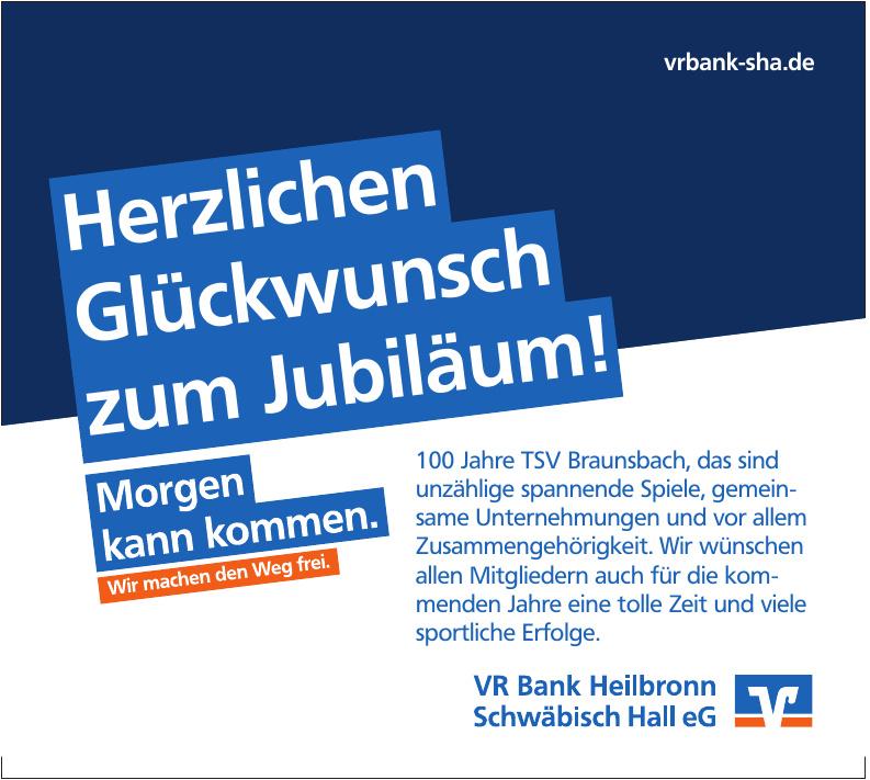 VR bank Hellbronn Schwäbisch Hall eG