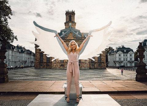 Die Saarbrücker Flügel, ein ultimatives Fotomotiv, das über #visitsaarbruecken geteilt werden kann. Foto: City-Marketing/Rouven Christ
