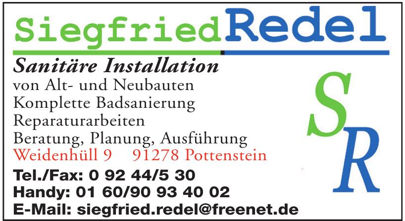 Sanitäre Installation Siegfried Redel