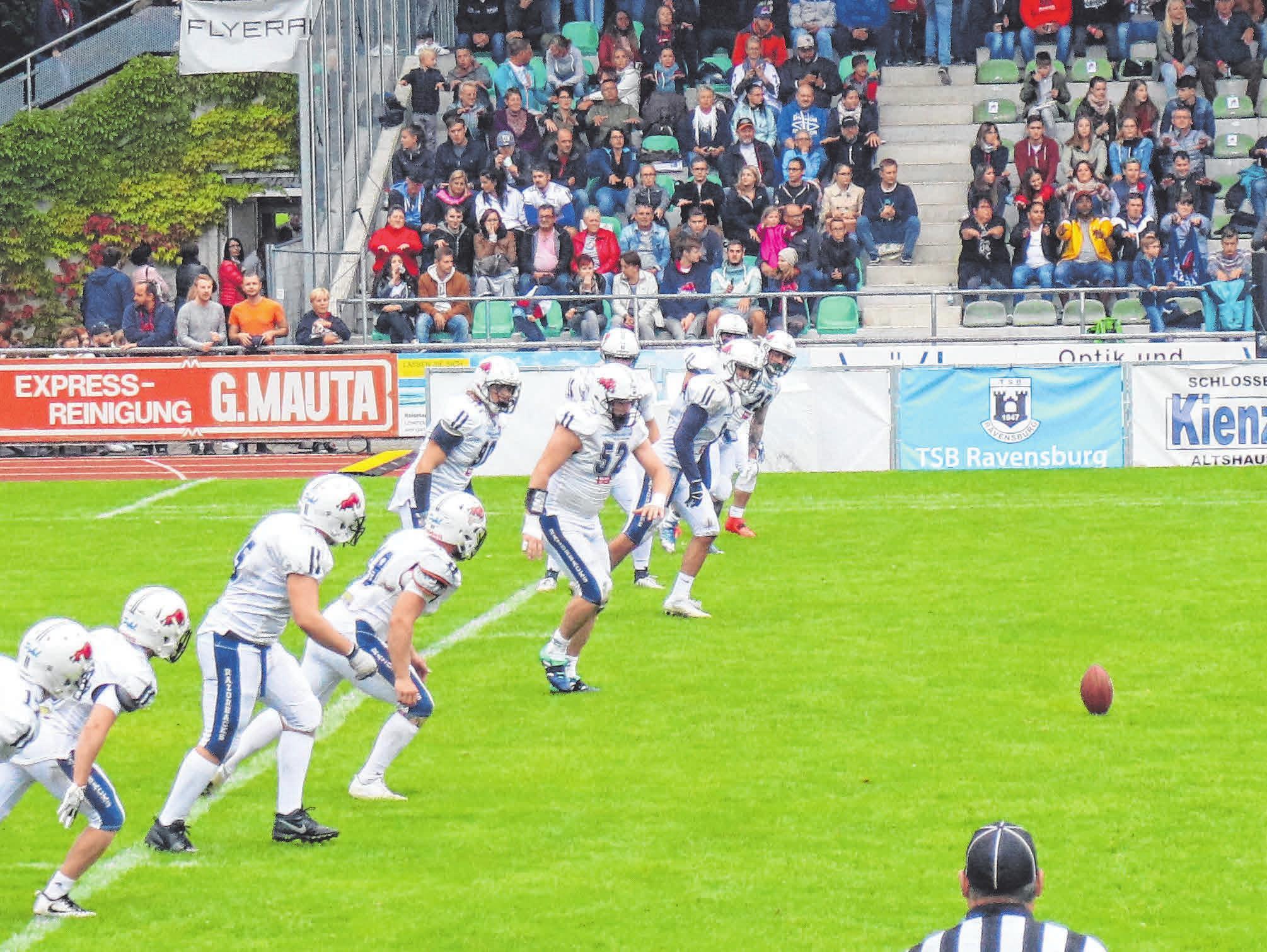 Mit sehr guten Spielern sind Ravensburg Razorbacks in die Saison gestartet. Die ersten beiden Spiele haben sie bereits gewonnen. Fotos: Stefanie Rebhan