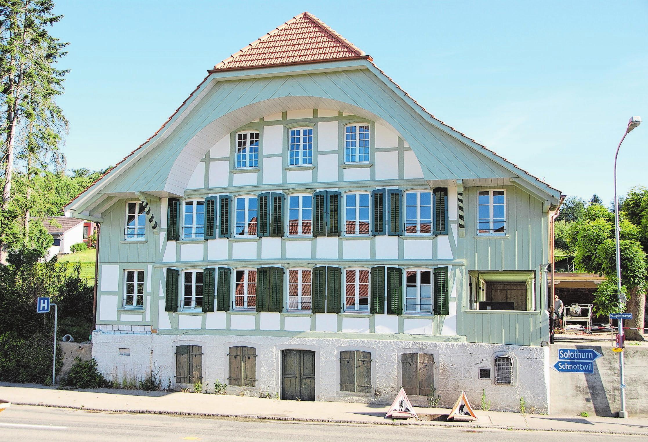 Die Fassade wurde restauriert, da sie unter Denkmalschutz steht. Bilder: zvg