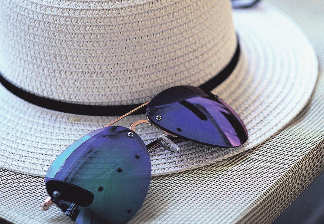 Sonnenhut und Sonnenbrille sind ein wichtiger Schutz
