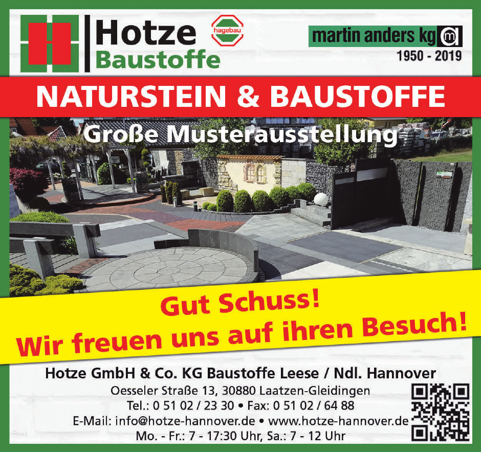 Hotze GmbH & Co. KG Baustoffe Leese / Ndl. Hannover