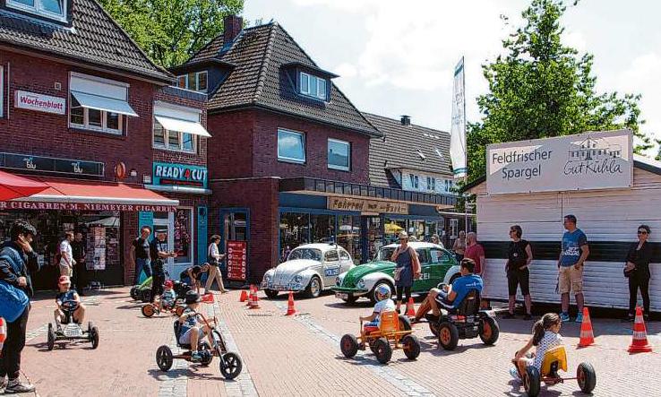 Mobile Unterhaltung gibt es auch für Kids mit einem Go-Kart-ParcoursFoto: kh