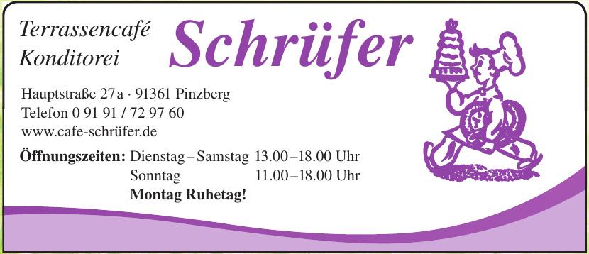 Terrassencafé Konditorei Schrüfer
