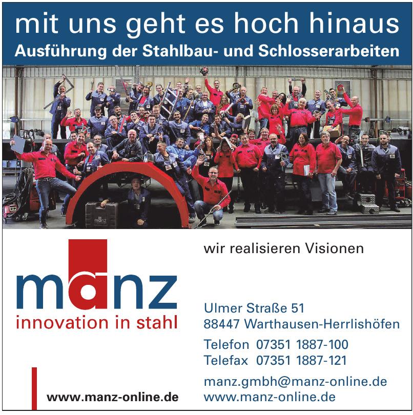 Manz GmbH innovation in stahl