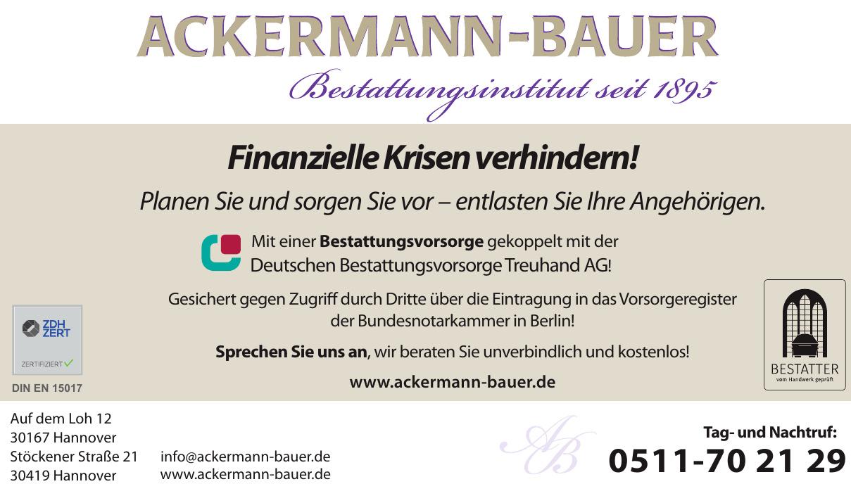 Ackermann-Bauer Bestattungsinstitut