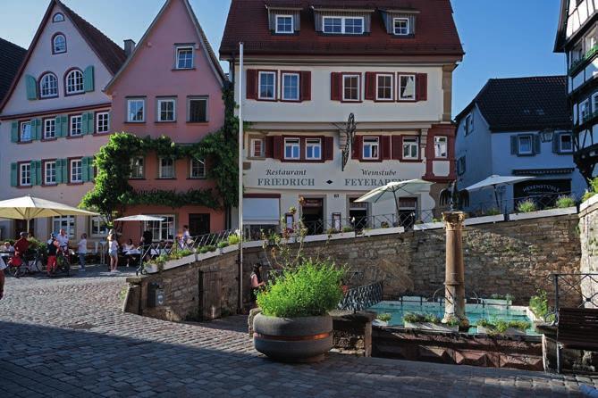 Der Adlerbrunnen in Bad Wimpfen.