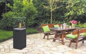 Designer-Outdoor-Kamin für stimmungsvolles Ambiente und wohlige Wärme