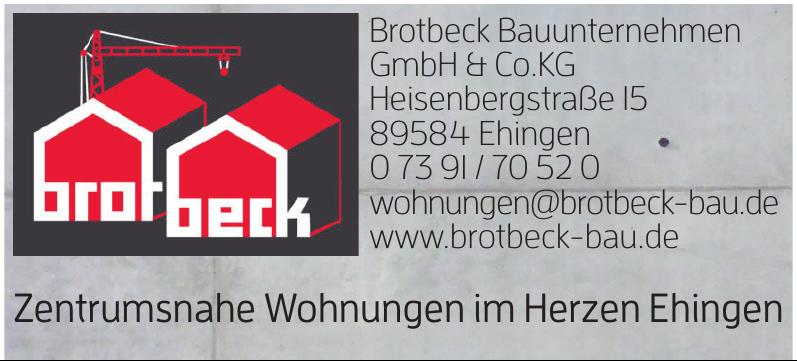Firma Brotbeck Bauunternehmen GmbH & Co. KG