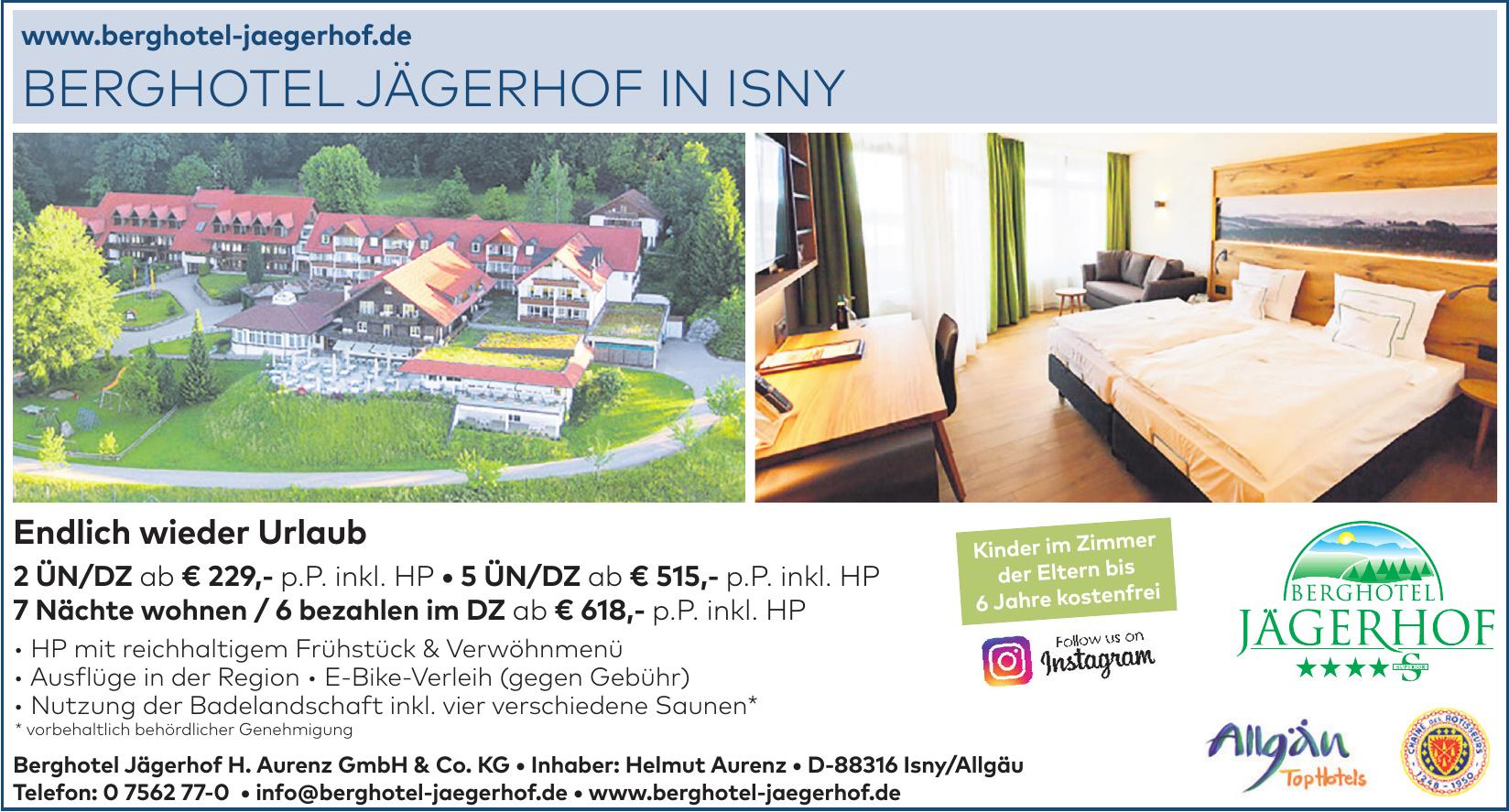 Berghotel Jägerhof H. Aurenz GmbH & Co. KG - Inhaber: Helmut Aurenz