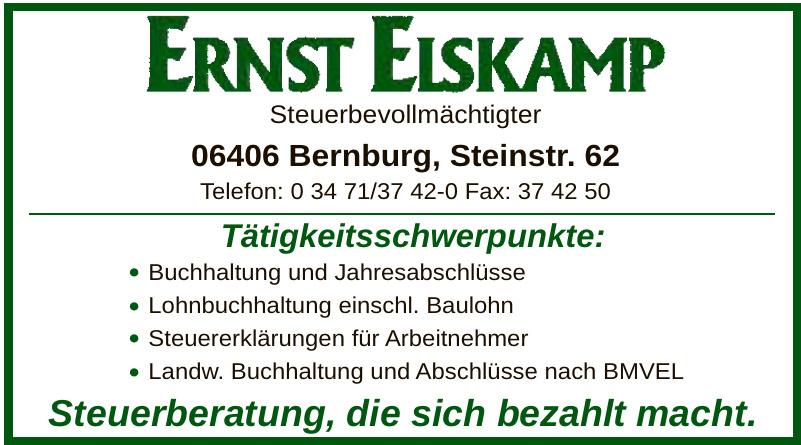 Steuerbevollmächtigter Ernst Elskamp
