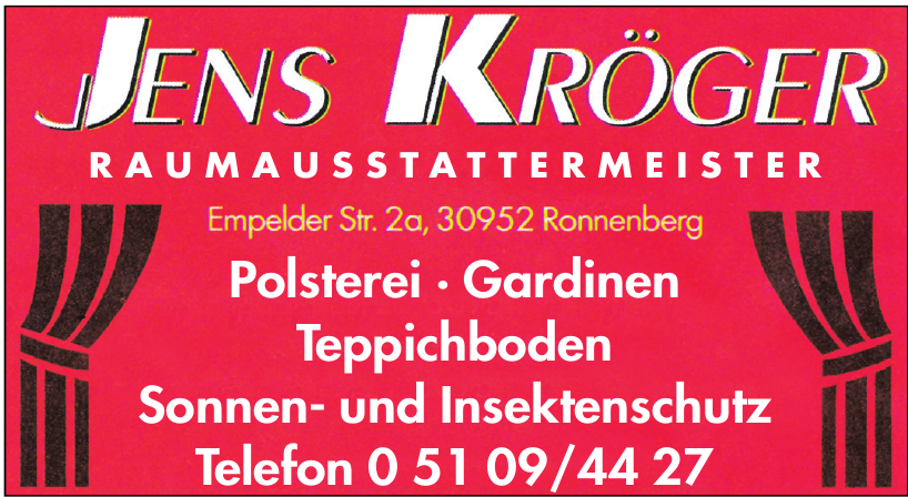 Jens Kröger Raumausstattermeister