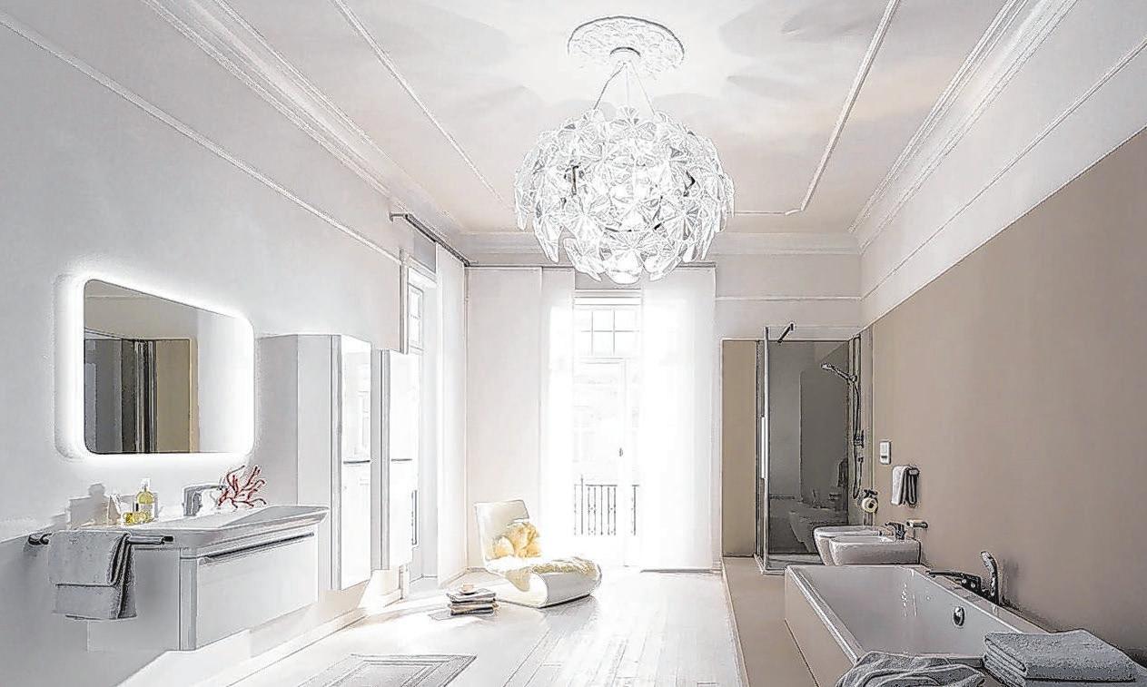 Die Farbe Beige im Badezimmer wird immer beliebter. Sie steht für Natürlichkeit und Wohnlichkeit und vermittelt gerade in Corona-Zeiten Geborgenheit. Foto: Geberit; MyDay