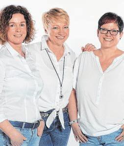 v.l. Stephanie Schrage-Kuschina, Elke Schreiber und Eveline Uttich