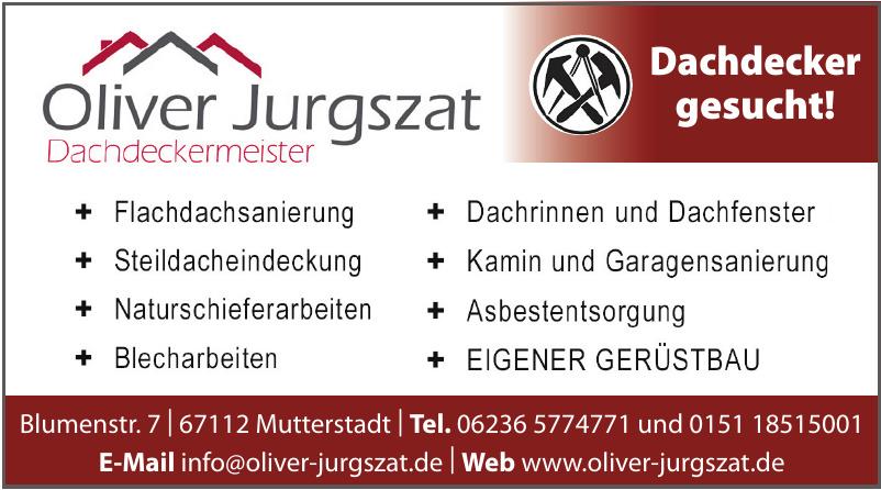 Oliver Jurgszat Dachdeckermeister
