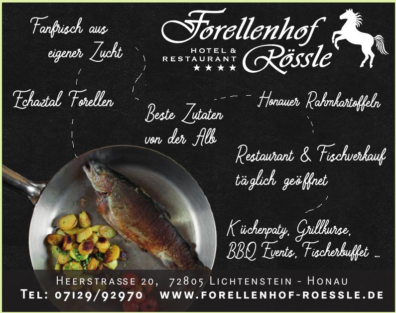 Forellenhof Rössle / Hotel & Restaurant