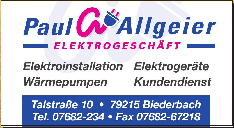 Paul Allgeier Elektrogeschäft