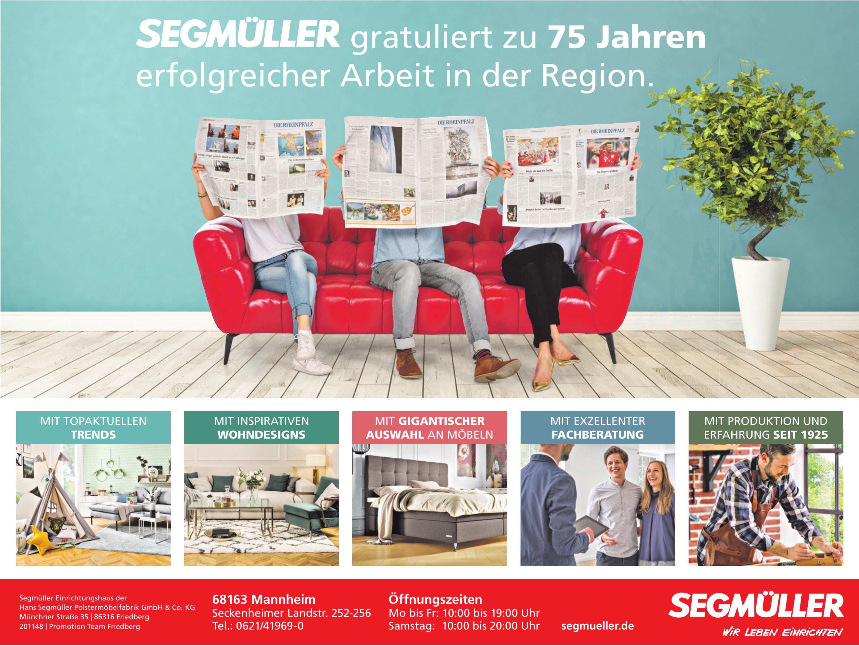 Segmüller Einrichtungshaus der Hans Segmüller Polstermöbelfabrik GmbH & Co. KG