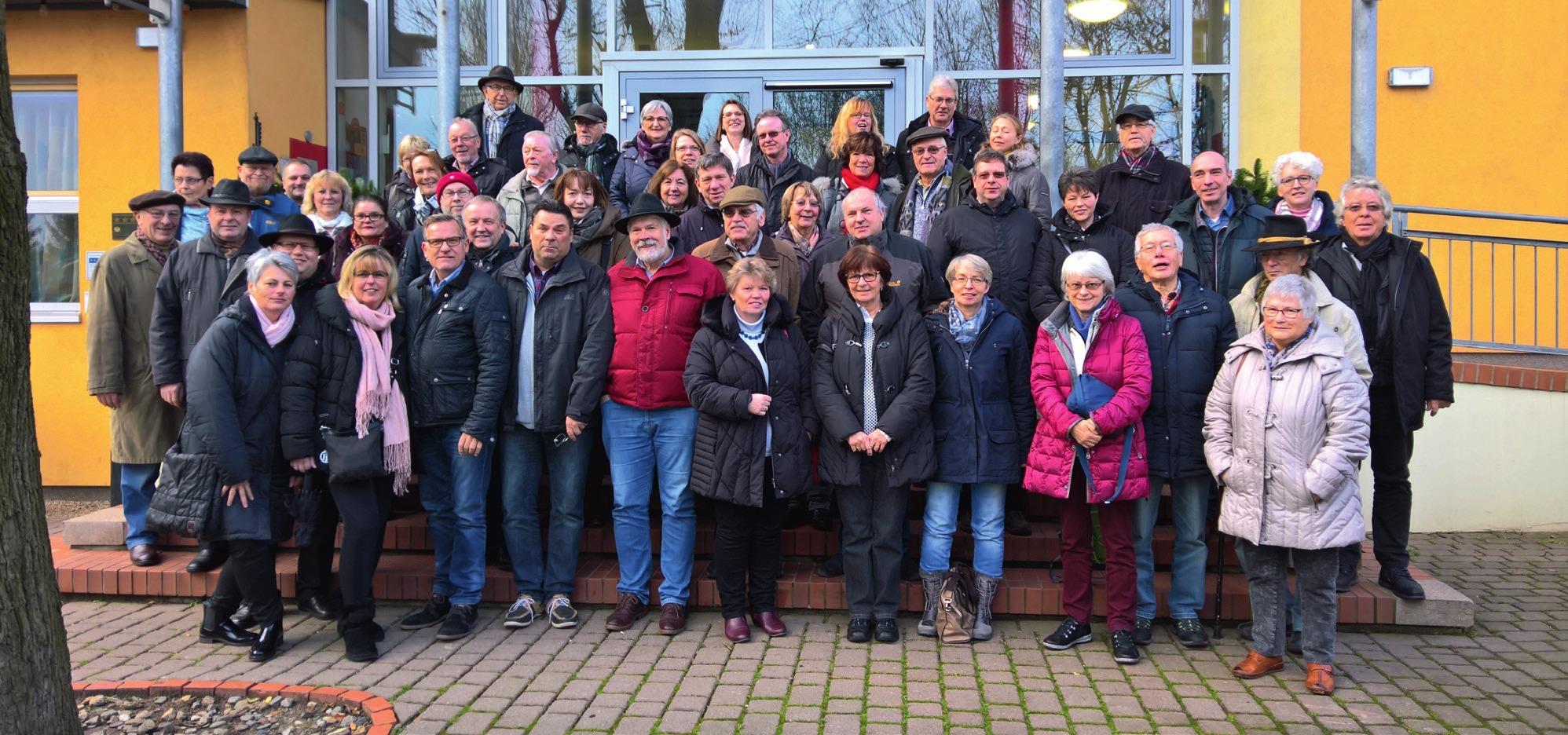 Der Vorstand der Schießabteilung mit ihren Damen in Quedlinburg.