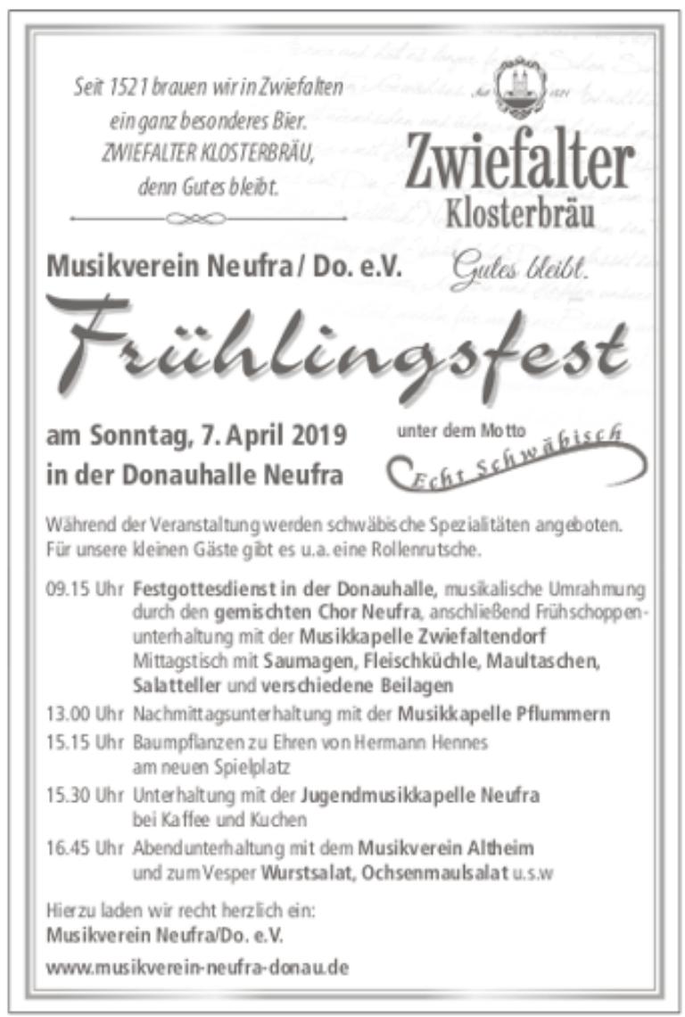 Musikverein Neufra/Do. e.V