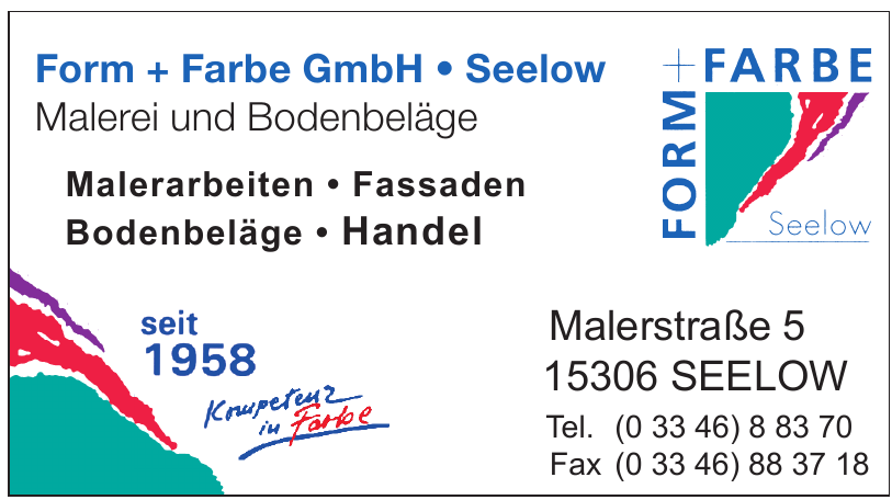 Form + Farbe GmbH Seelow